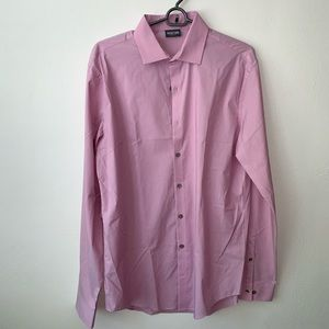 Kenneth Cole Pink button down shirt sz15 1/2 34-35